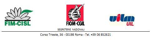 FIM, FIOM, UILM - Segreterie Nazionali