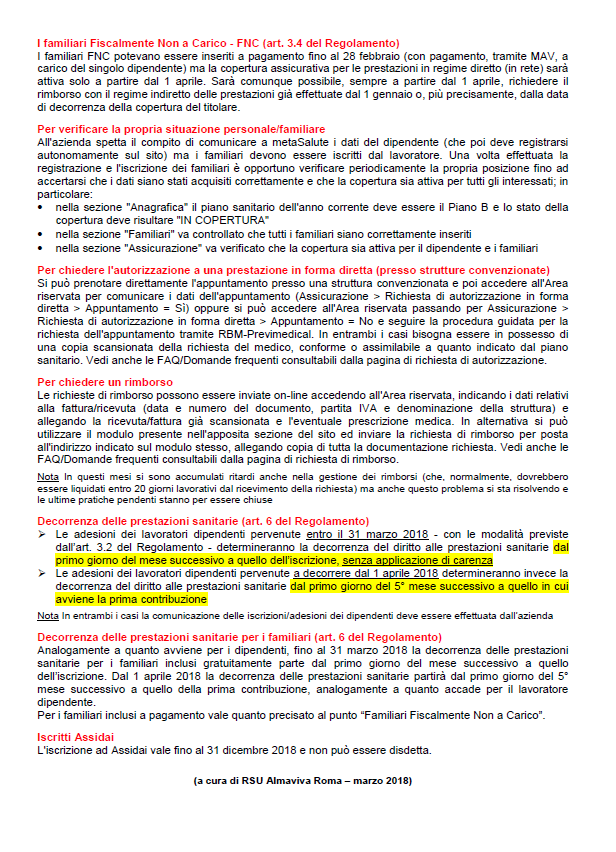 METASALUTE - AGGIORNAMENTO p2
